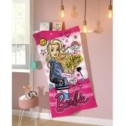 Toalha De Banho Barbie Dohler Aveludada 100% Algodão 70x130cm