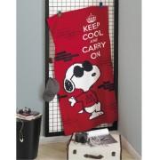 Toalha de Banho Snoopy Vermelho Aveludada 100%Algodão Dohler
