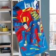 Toalha De Banho Superman Dohler Aveludada 100% Algodão