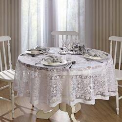 Toalha de mesa Redonda 6 lugares de Crochê Persia 180 cm | Lepper