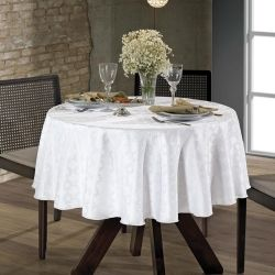 Toalha de mesa Requinte Redonda em Jacquard 160cm | Dohler
