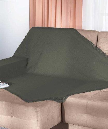 Manta Para Sofa 100 Algodao Unicolor - Dohler