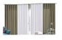 Cortina Sala 4,00x2,50 Bicolor Oxford Avelã Branca Admirare