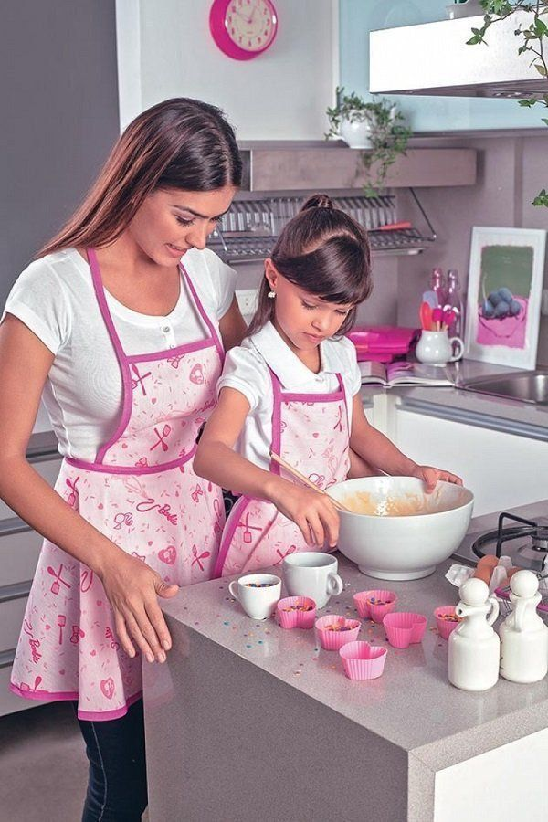 Avental Adulto Estampado Barbie Chef M 1 Peça | Lepper