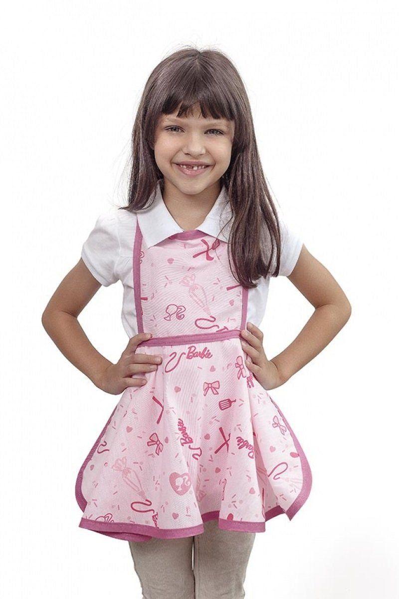 Avental Infantil Estampado Barbie Chef M Com 1 peca
