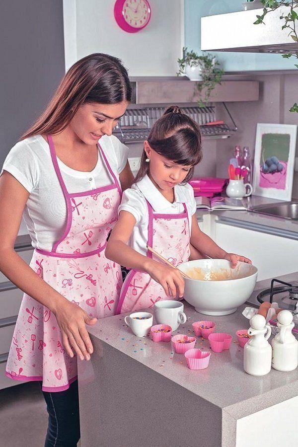 Avental Infantil Estampado Barbie Chef