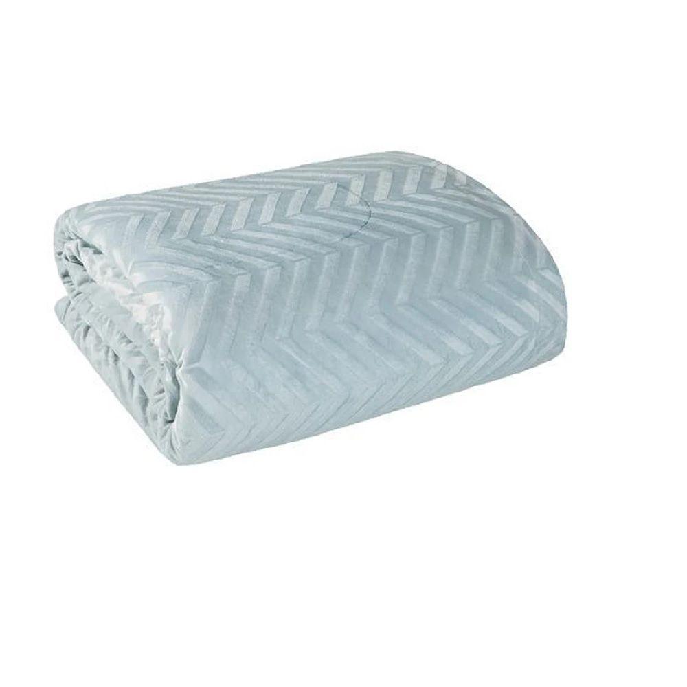 Coberdrom Casal Premium Dupla Face Efeito Relevo Azul Lepper