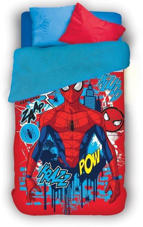 Coberdrom Fleece Dupla Face Spider Man com 1 peça | Lepper