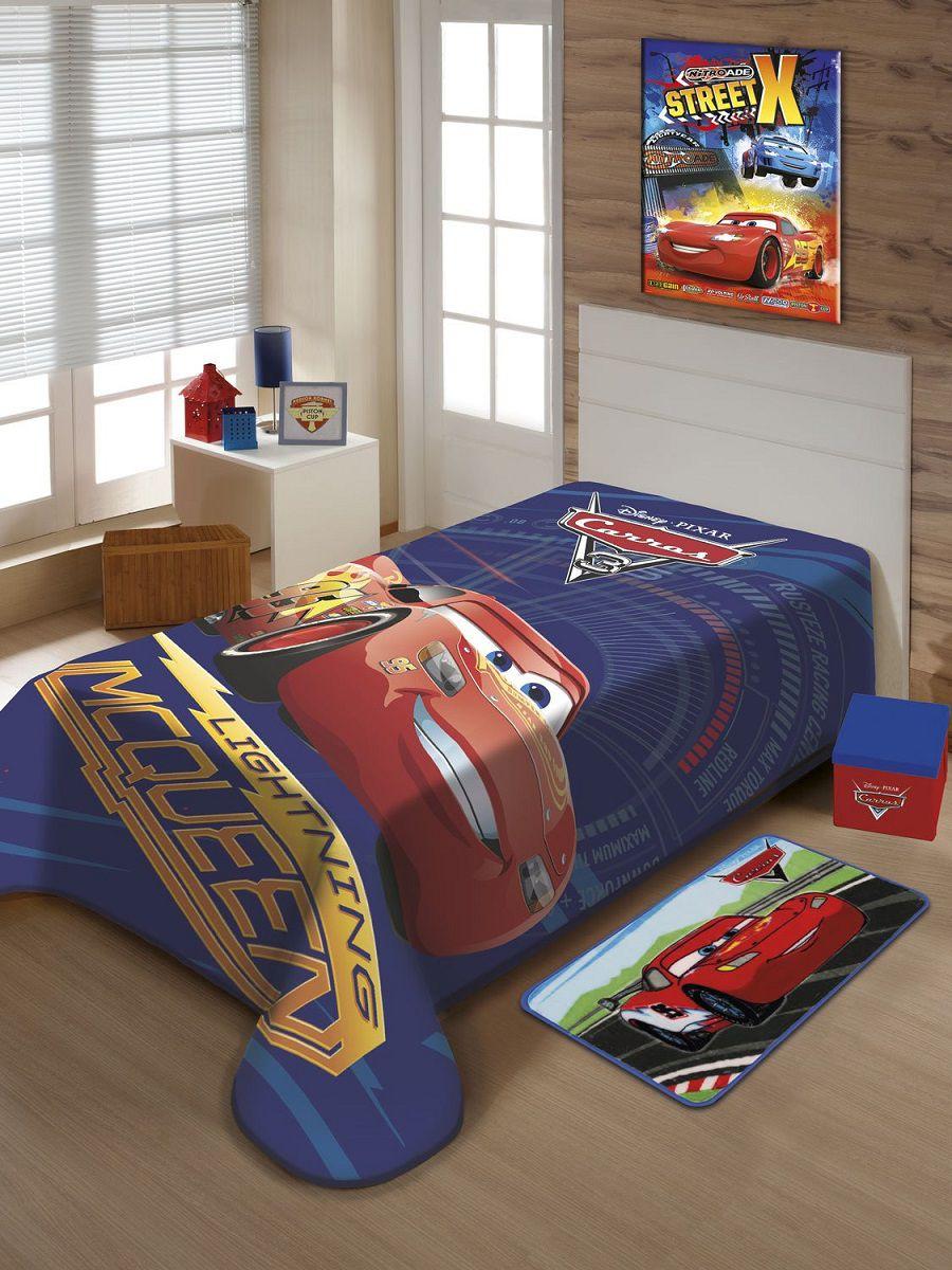 Cobertor Jolitex Solteiro Raschel Disney Carros Mcqueen