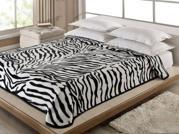 Cobertor Solteiro Antialergico Zebra Corttex