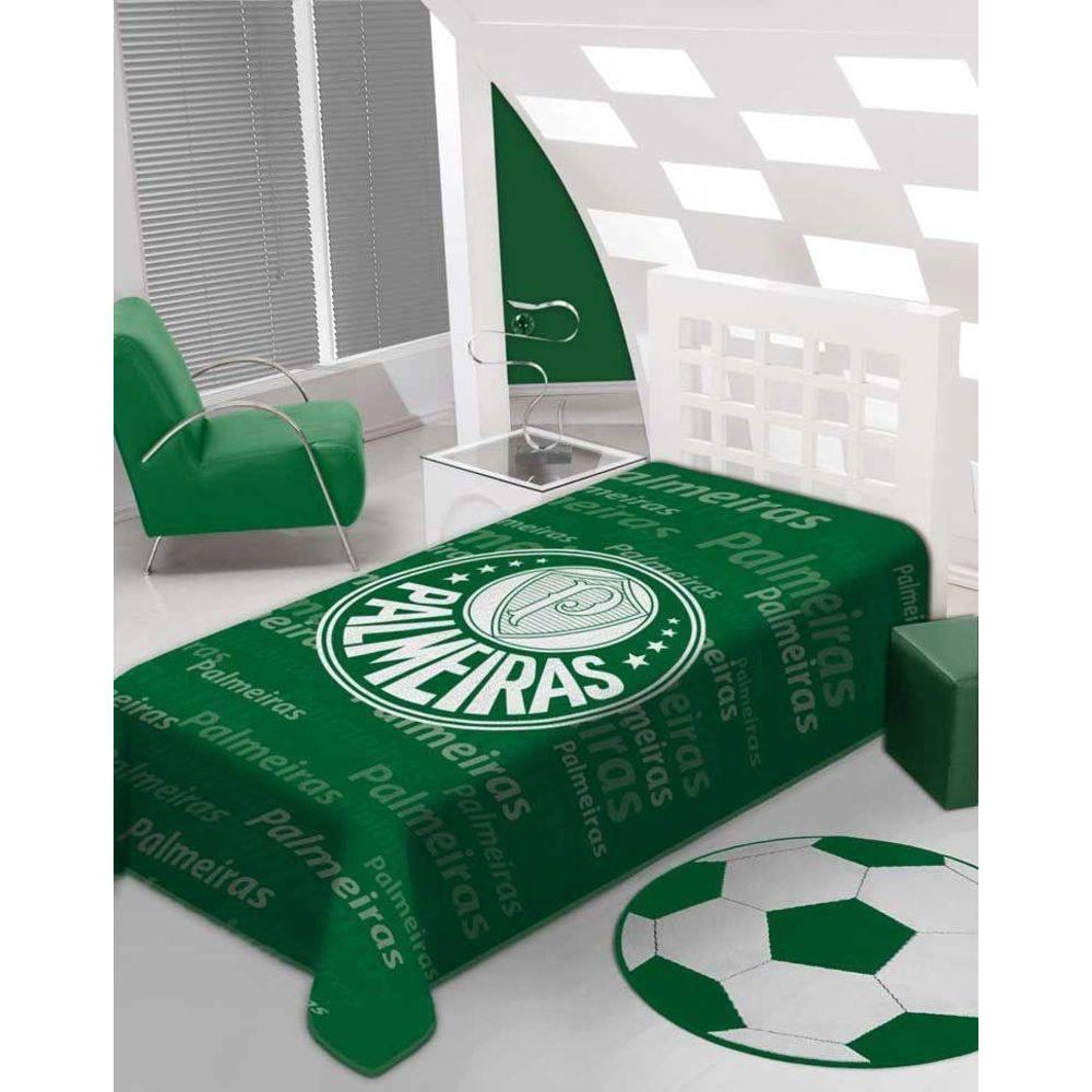 Cobertor Standium Jolitex Solteiro Palmeiras 1,5x2,20 Original Oficial