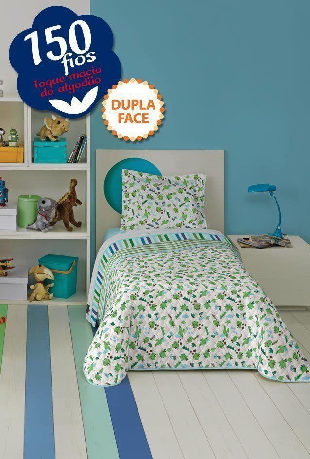 Cobreleito Dupla Face Solteiro Dino 2 Peças 04582601 | Lepper