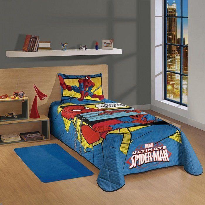 Colcha Matelassê Solteiro Spider- Man Ultimate- Lepper