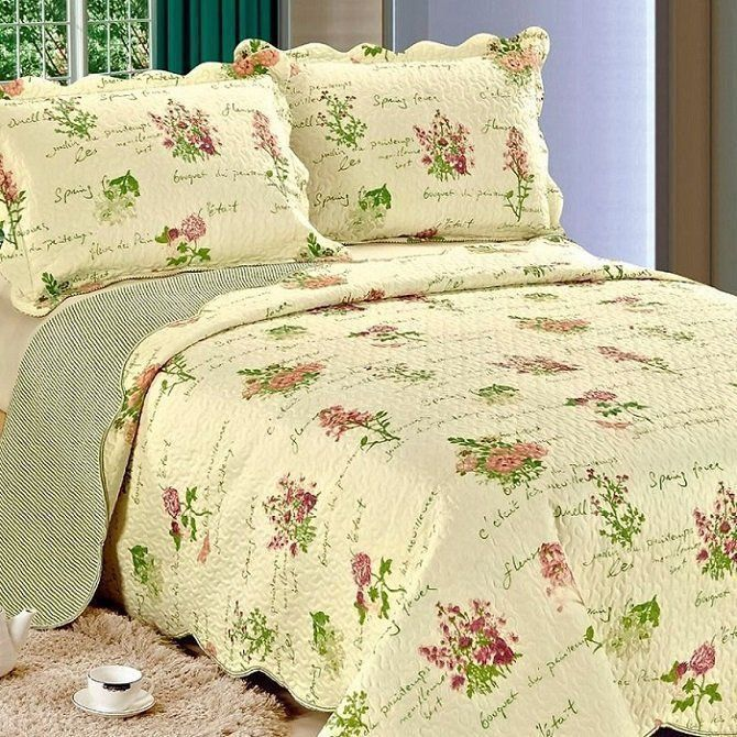Colcha Patchwork Casal Gigante Garden Serve P/ Box - Camesa