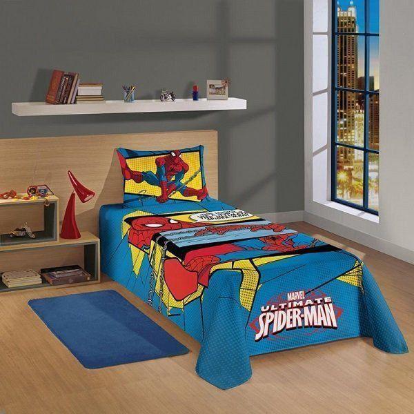 Colcha Simples Spider Man 044176 | Lepper