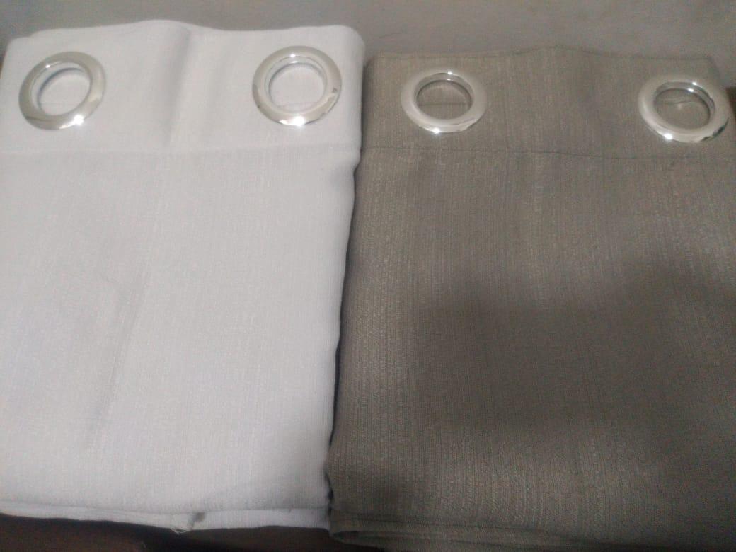 Cortina Bicolor 4,00 x 2,80 Rustica Cinza Admirare