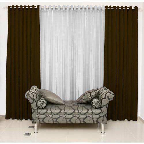 Cortina Bicolor Rústica com Ilhóses Cromado 4 x 2,5 | Admirare