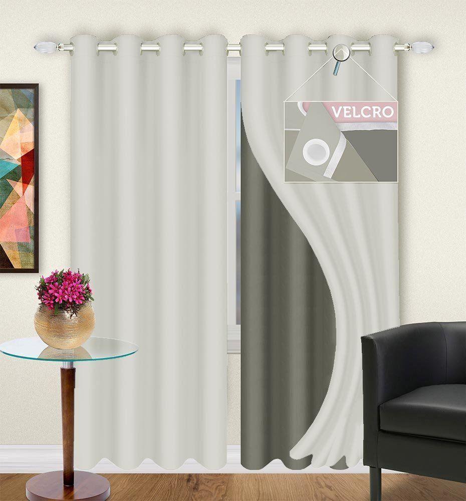 Cortina Voil com Forro Microfibra Lava Fácil 2,80 x 2,30 m Admirare