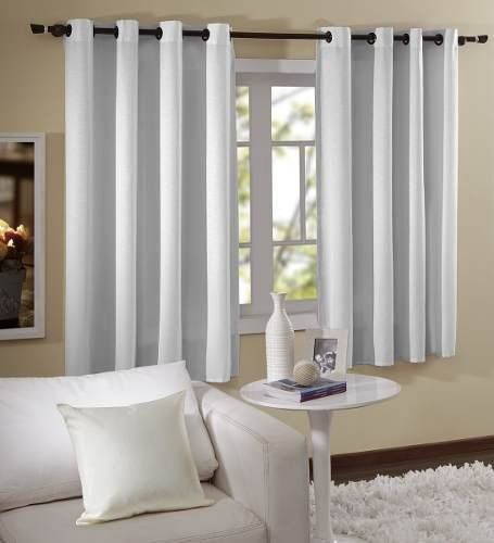 Cortina Branca Para Quarto E Sala Em Tecido Blecaute 2,00 x 1,80m Admirare