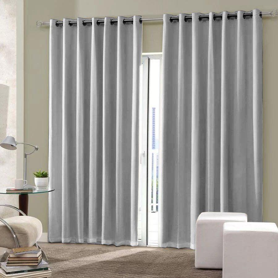 Cortina blackout tecido sala quarto 300x250 cinza claro - Formas de cortinas ...