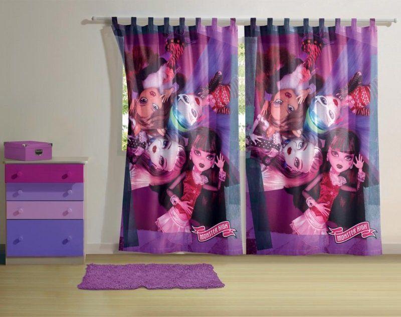Cortina c/ alça 2 Peças Estampada Monster High | Lepper