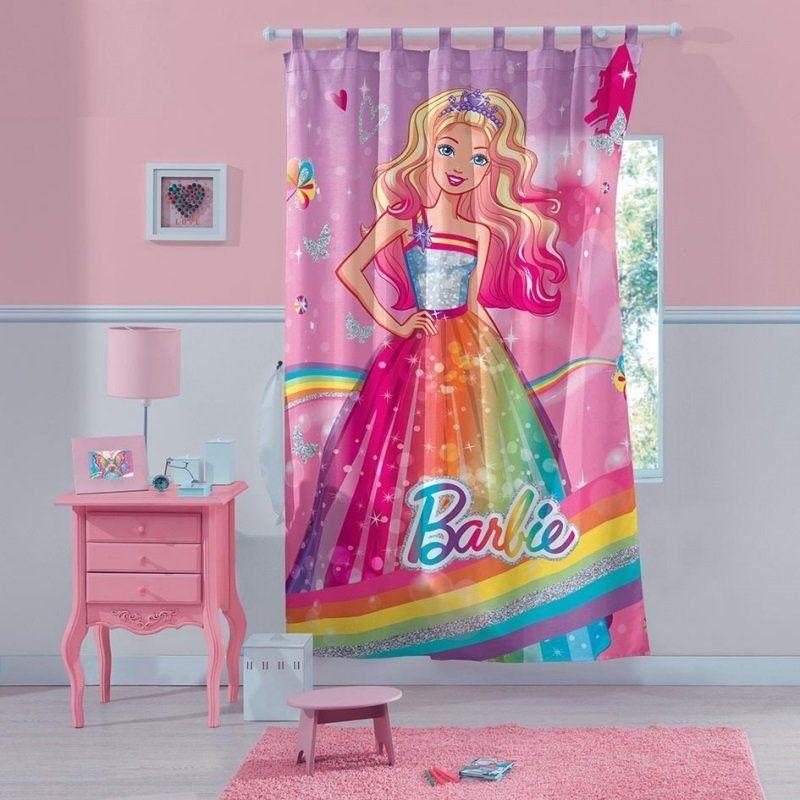 Cortina com Alça Barbie Reino do Arco-Íris | Lepper