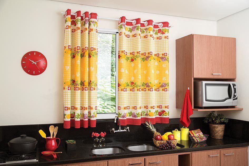 Cortina de Cozinha Estampada 140X140 Lepper
