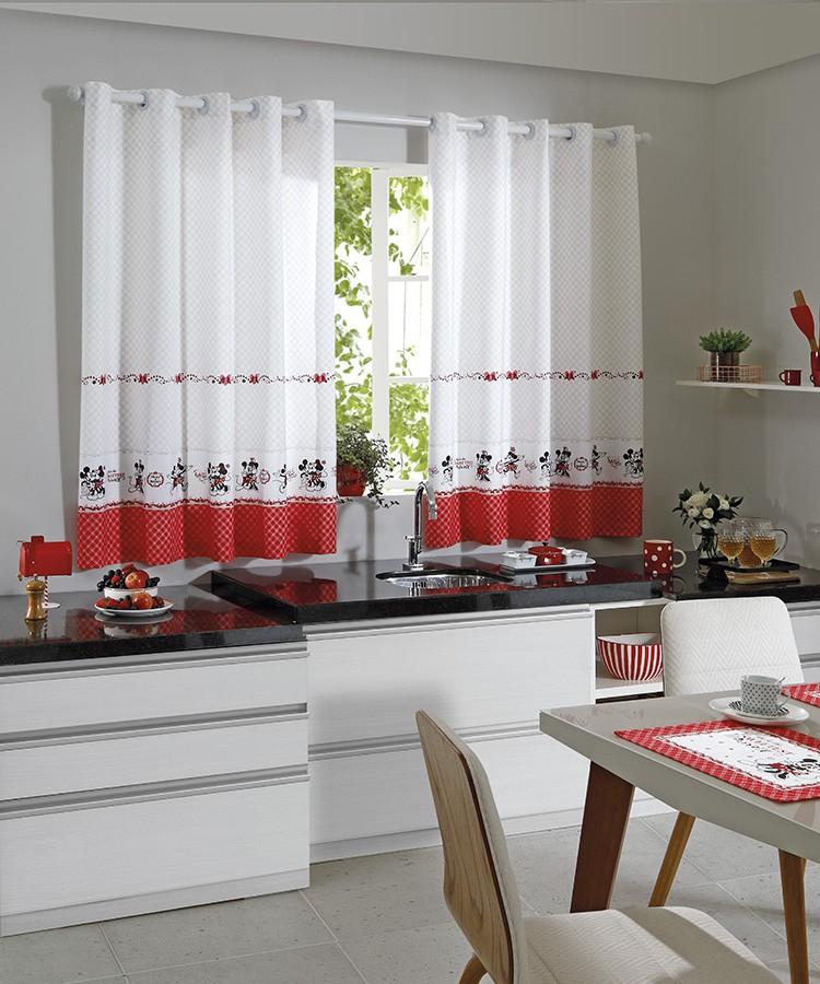Cortina de Cozinha Mickey e Minnie Athenas 200x150cm Döhler