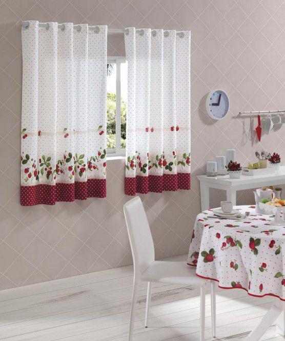 Cortina Estampada Athenas p/ Cozinha Iolanda 2,00x1,50 Dohler