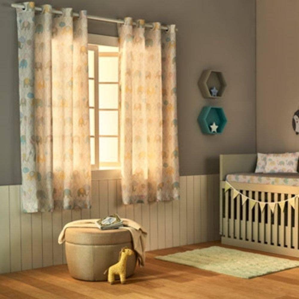 Cortina Estampada Baby  2,80x1,80m Santista