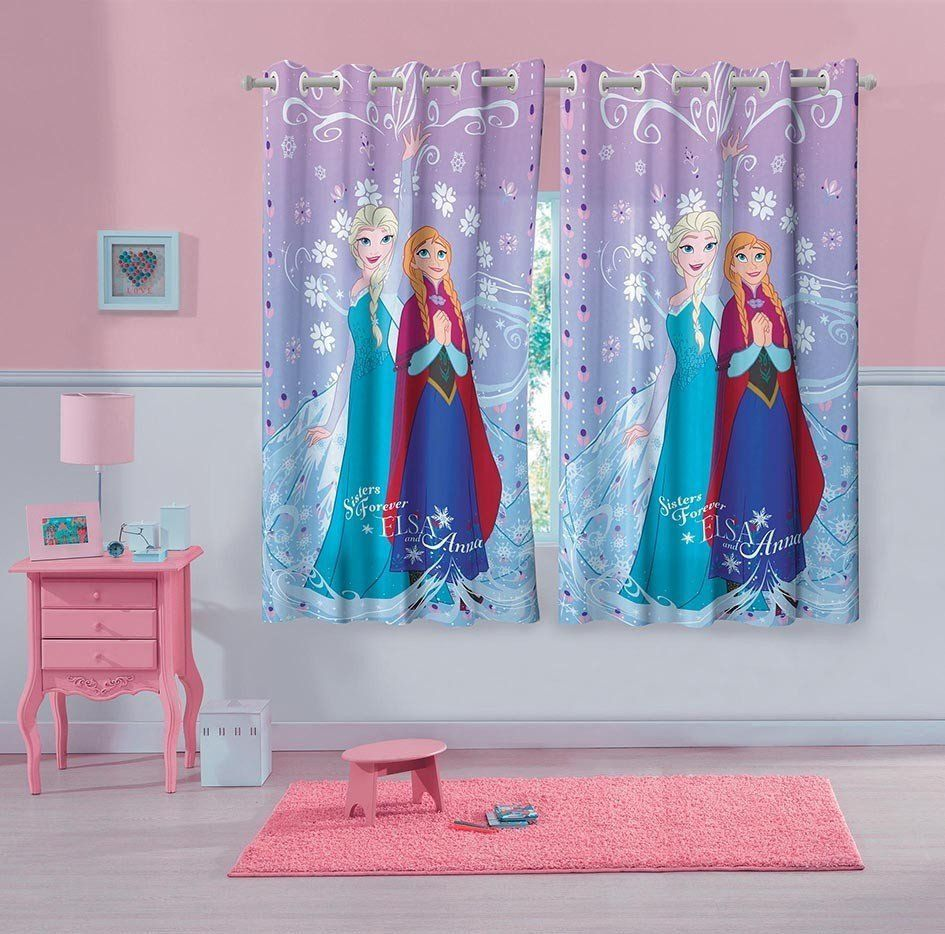 Cortina Estampada Frozen  2 peças | Lepper