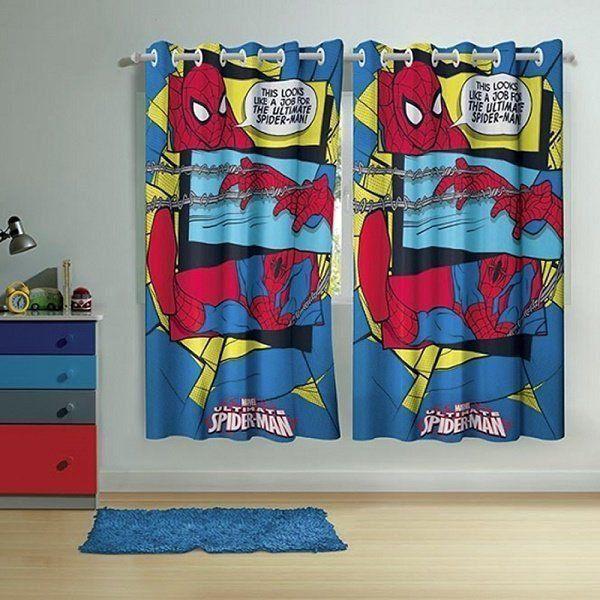 7c70b388fe Cortina Infantil com ilhós Spider-Man 2 peças 1