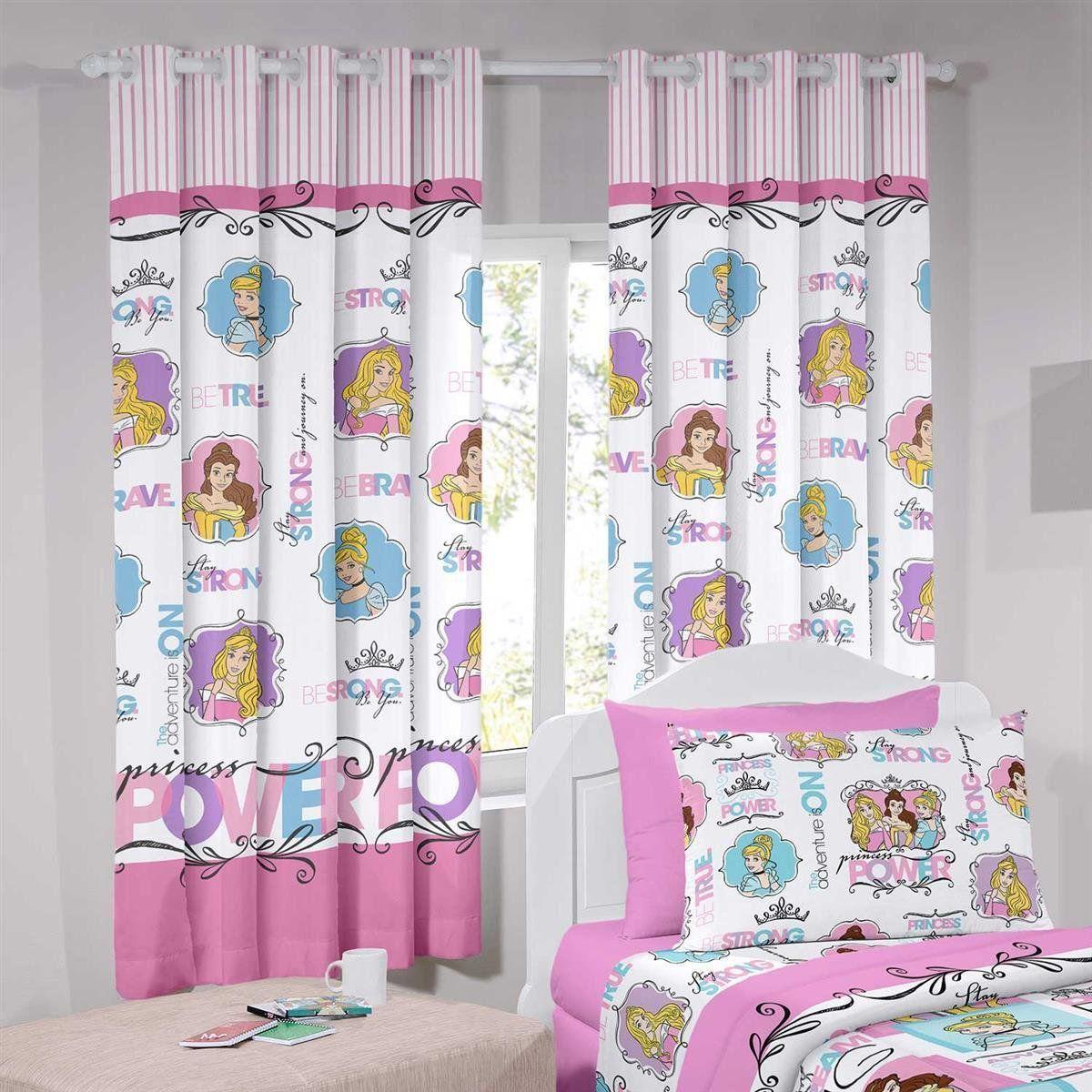 e5be7dd234 Cortina Infantil Curta Disney Princesas 2