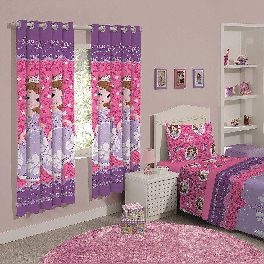 Cortina infantil princesa sofia dream 2 00x1 80 santista - Modelos de cortinas infantiles ...