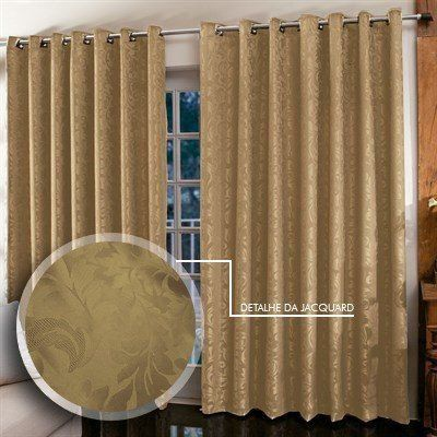 Cortina Jacquard para sala/quarto 4 x 2,5 m   Admirare