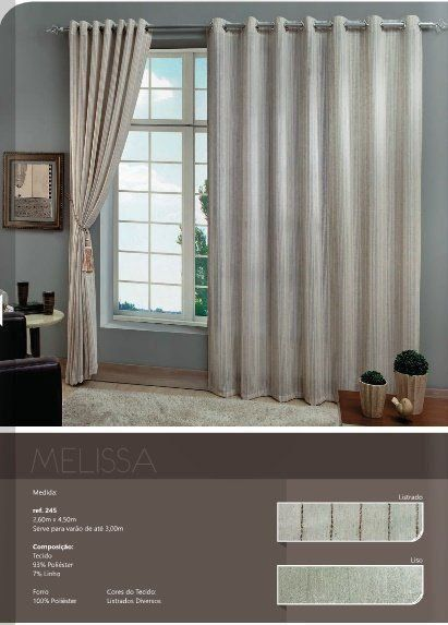 Cortina Melissa 2,60 X 4,50 | MC Cortinas