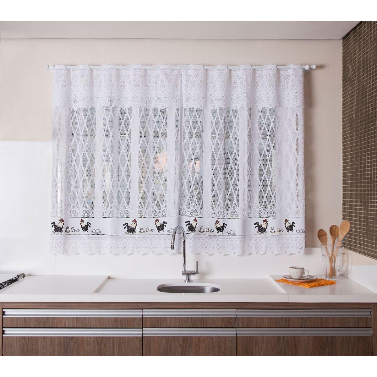 Cortina para janela de cozinha de renda 2 00x1 50 for Ecksofa 1 50 x 2 00