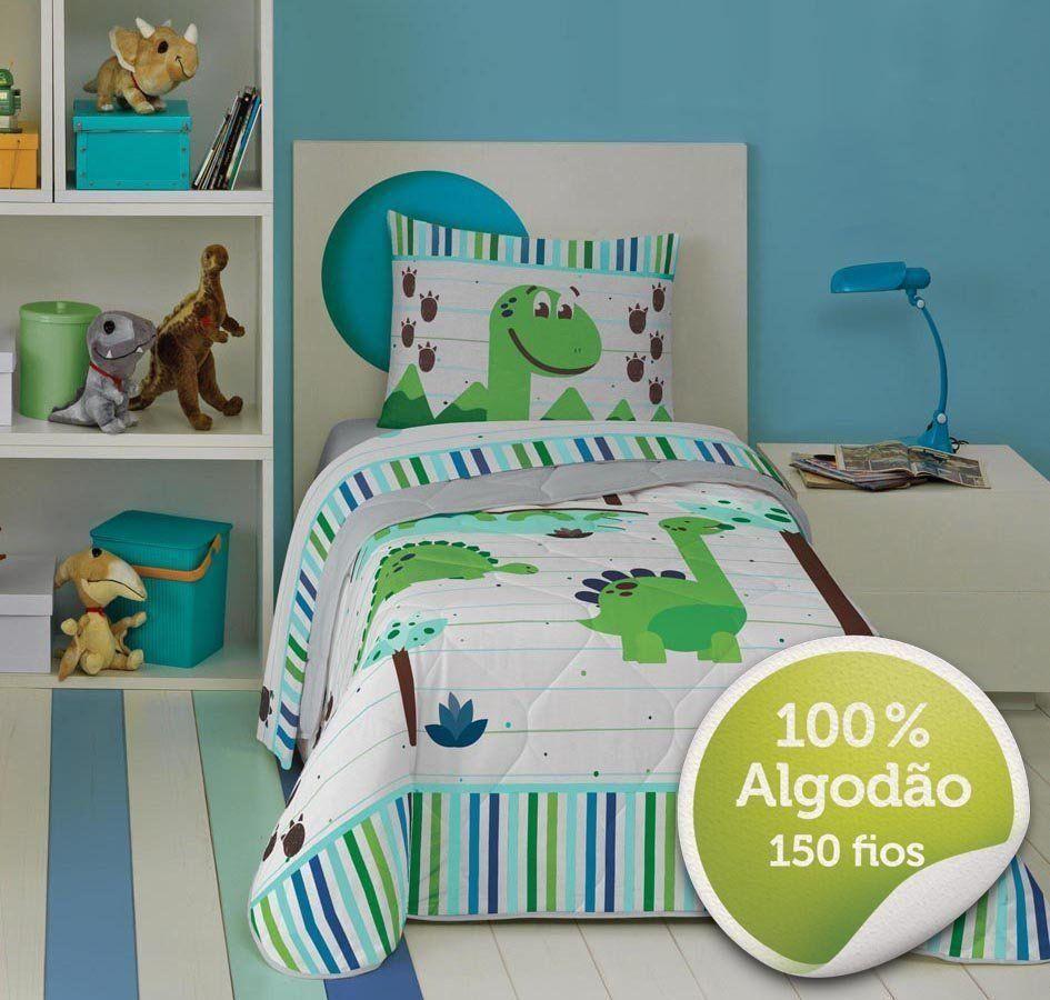 Edredom 100% Algodão Solteiro Dino 04668701 | Lepper