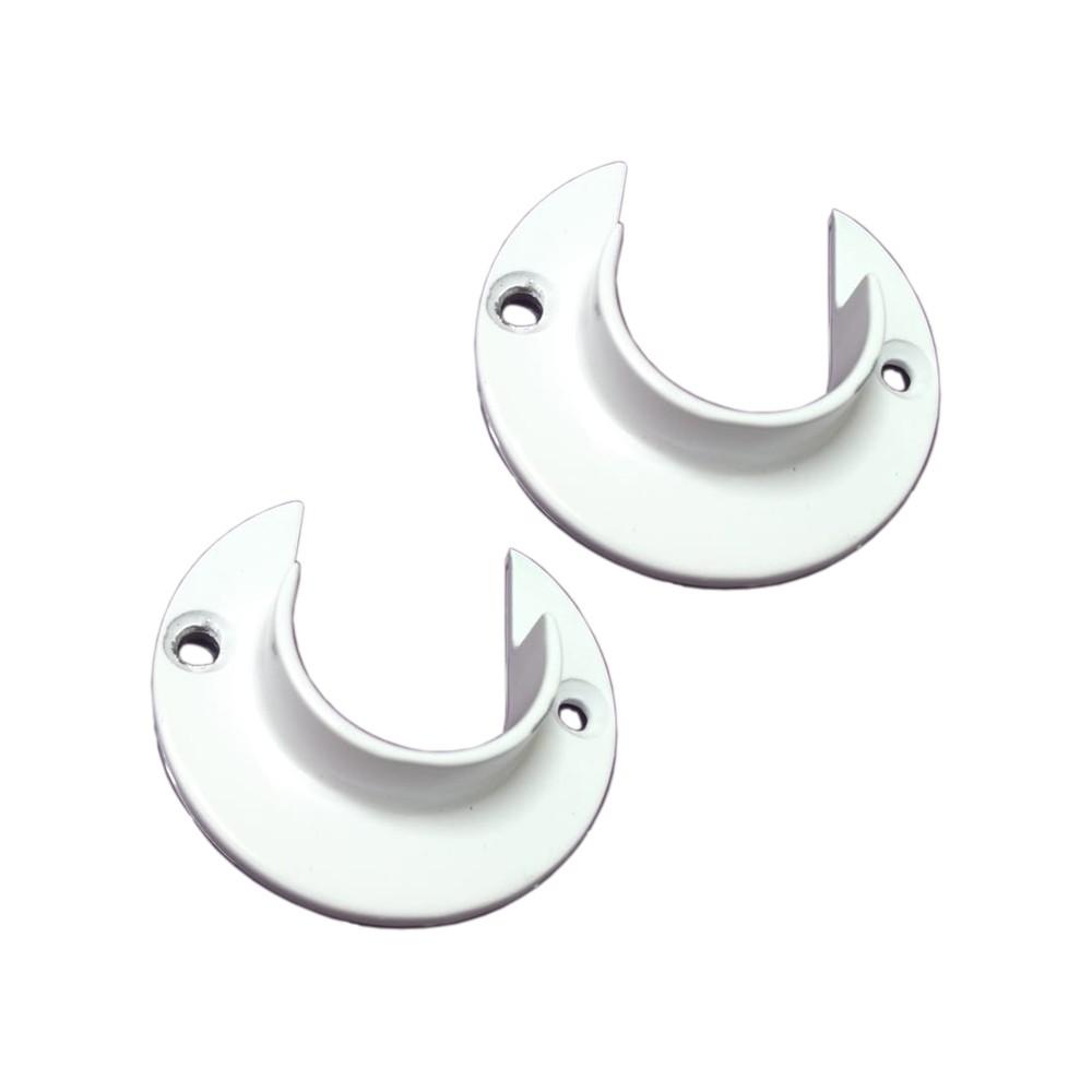 Flange Alumínio para Varão de Cortina 28mm 1 PAR | Utilimark