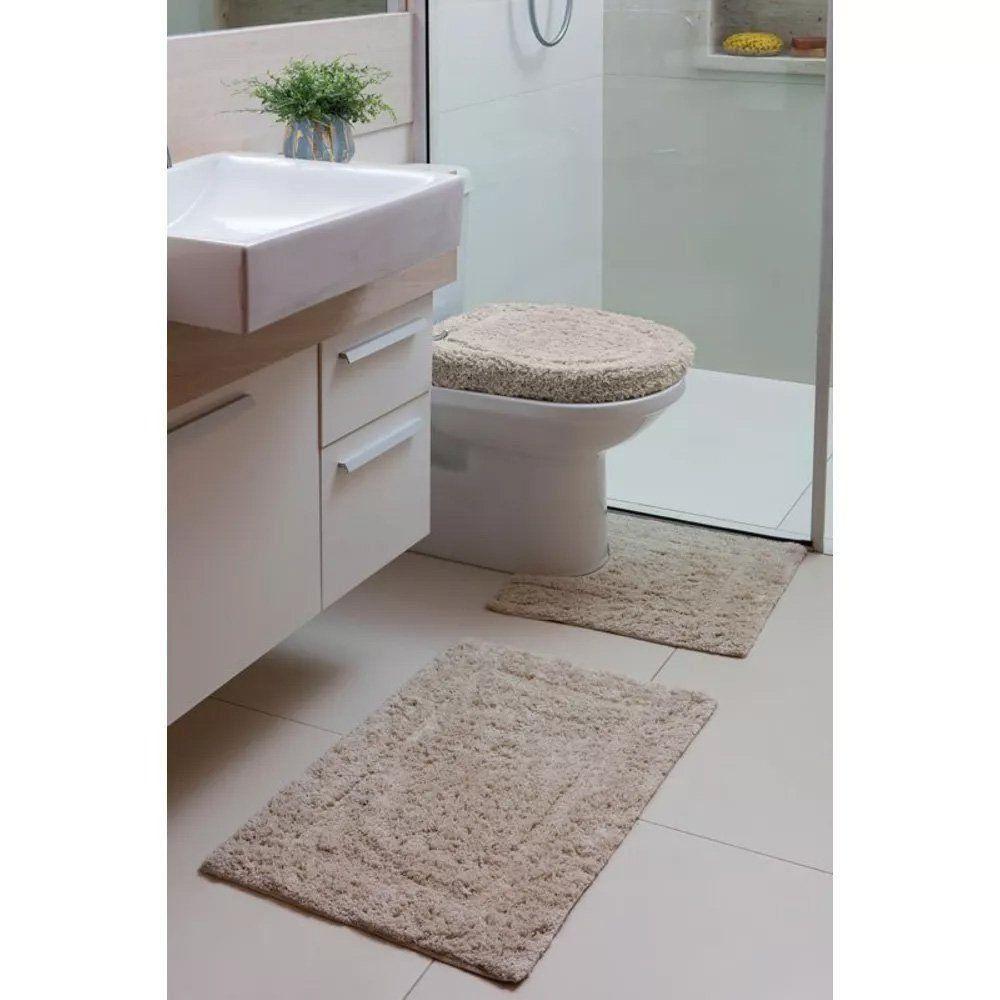 Jogo de Banheiro 03 Peças Attuale Capri Mirante   Corttex