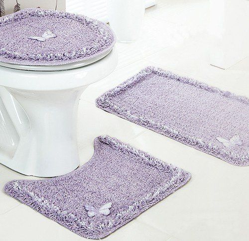 Jogo de Banheiro 3 pçs 100% Algodão - Delicate