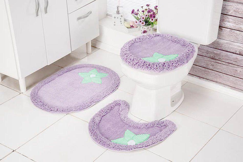 Jogo de Banheiro 3 peças 100%  Algodão - Cotton Soft