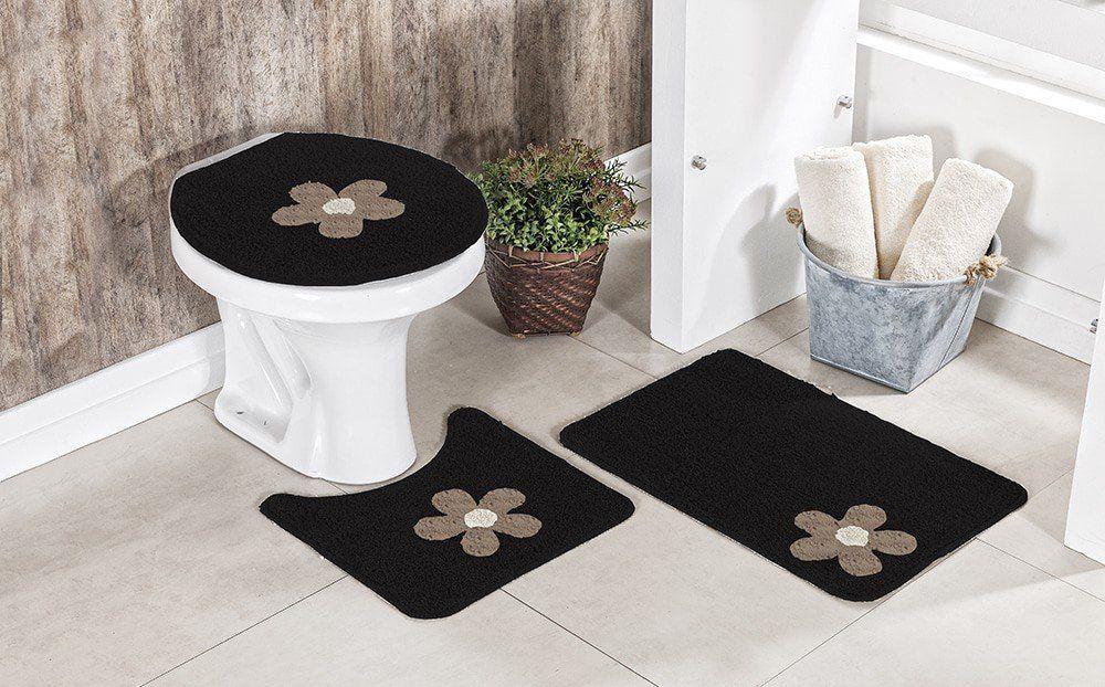 Jogo de Banheiro 3 peças - Cotton 100% Algodão