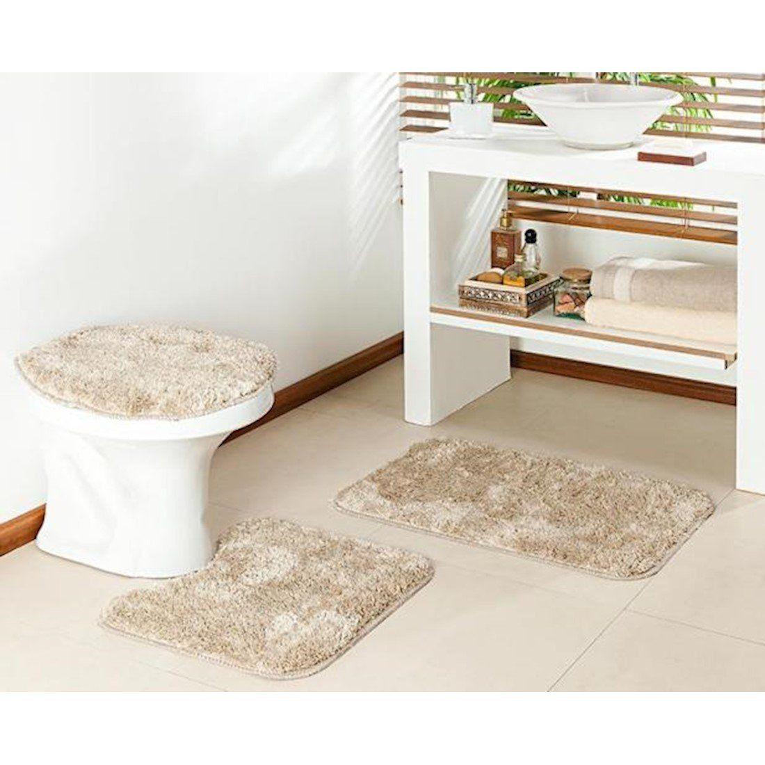 Jogo de Banheiro 3 Peças  Cronos | Prata Têxtil