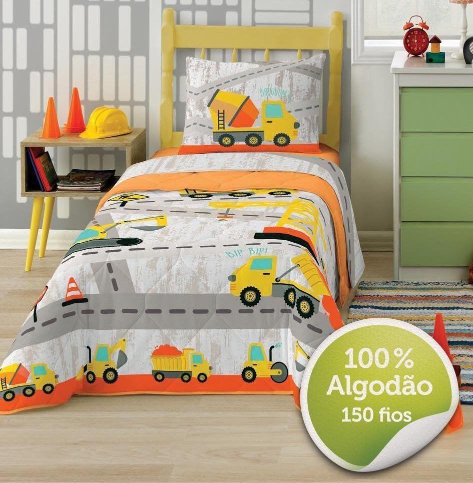 Jogo de Cama 100% Algodão Solteiro Truck 3 Peças | Lepper