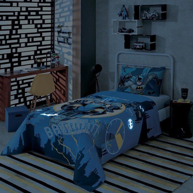 Jogo de cama 2 Peças Batman Brilha no Escuro | Lepper
