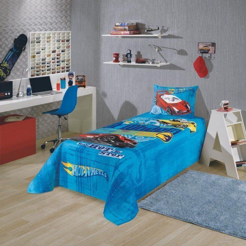 Jogo de cama 2 Peças Hot Wheels   Lepper