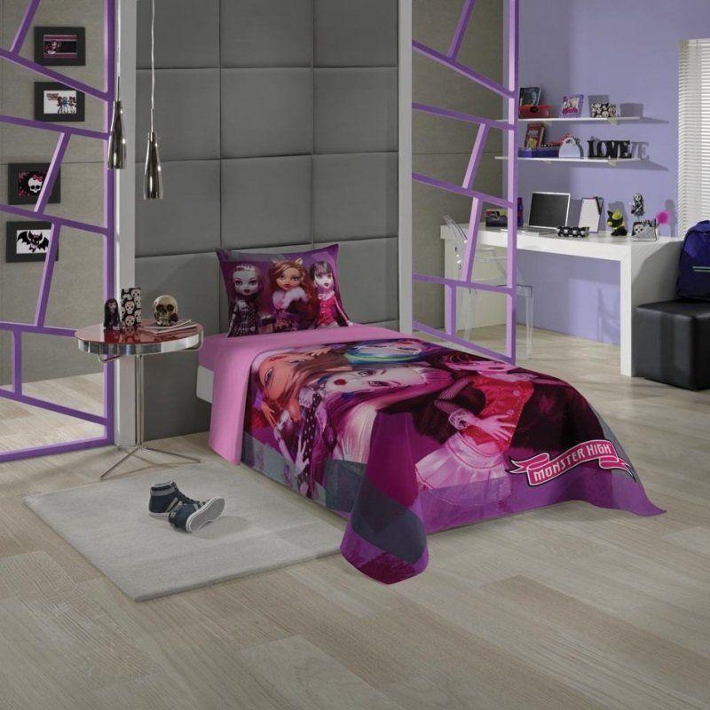 Jogo de cama 3 peças Monster High 49929-01| Lepper