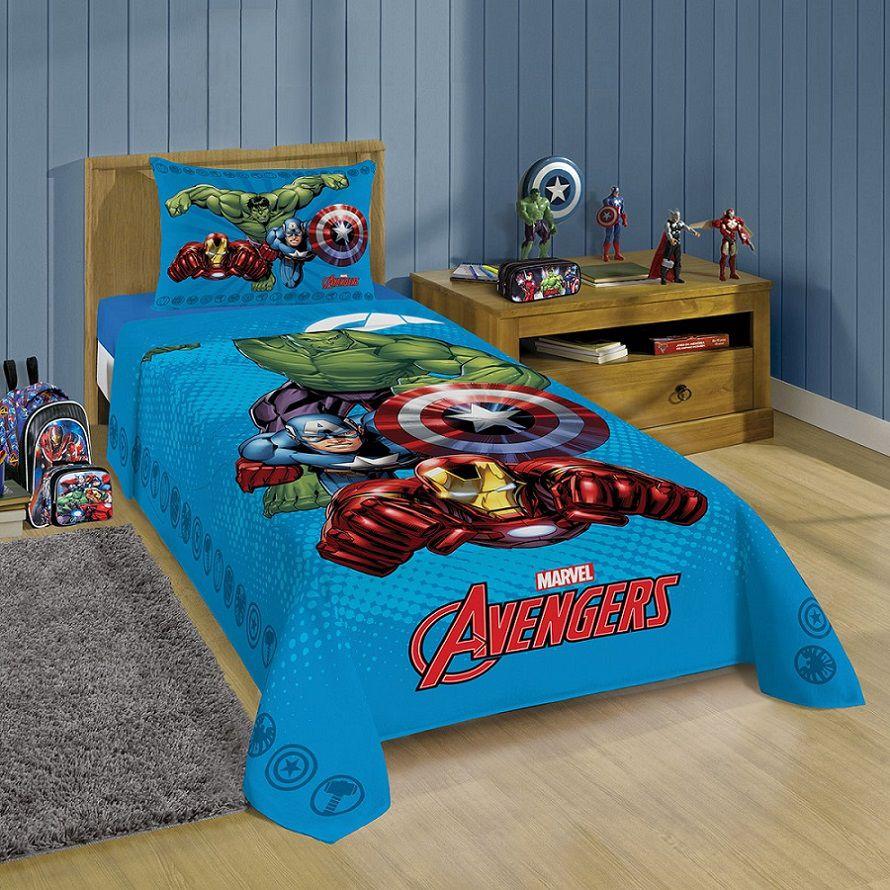 Jogo de Cama Avengers Solteiro 2 peças Lepper