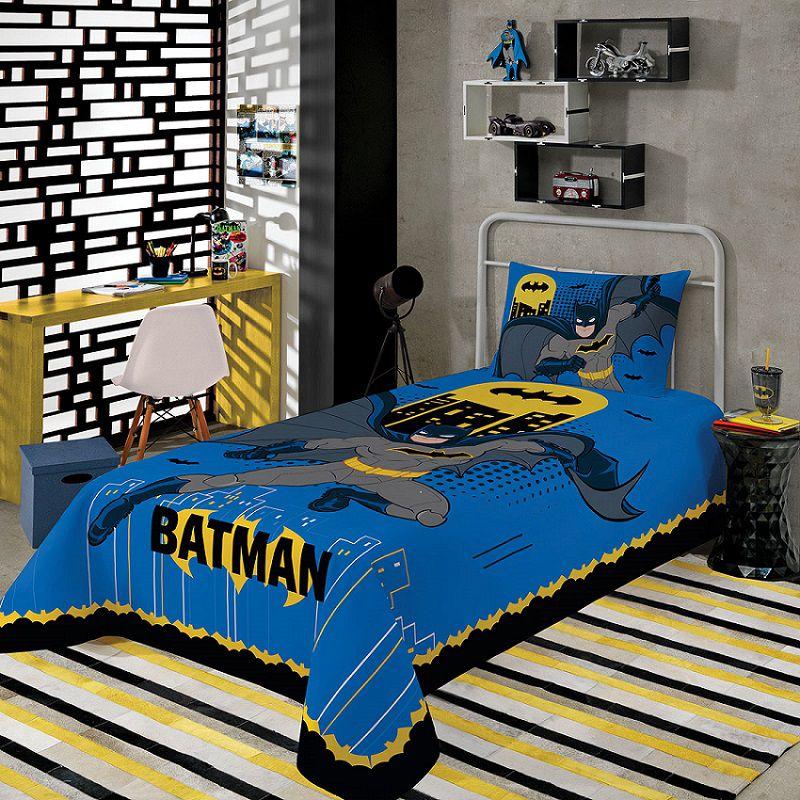 Jogo de Cama Batman Solteiro  2 Peças Lepper